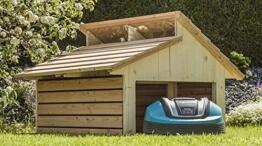 Mähroboter Garage RoboGard Home aus Holz - für alle gängigen Rasenroboter -